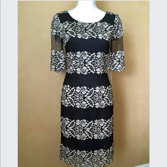 8d83be15ba4 Black Tan Antonio Melani Lace Dress NWT size 2